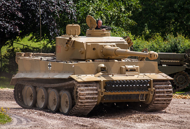 The only functional Tiger I in the world resides in the Bovington Tank Museum in England. Photo source: Wikipedia.