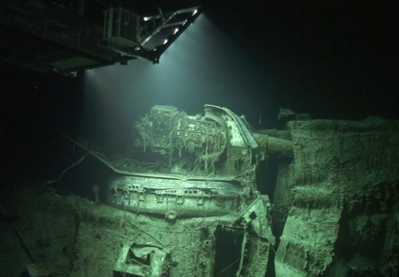Also discovered in 2008, the wreck of the HMAS Sydney lies about 13 miles southeast of the Kormoran's final resting place. Photo source: Business Insider.