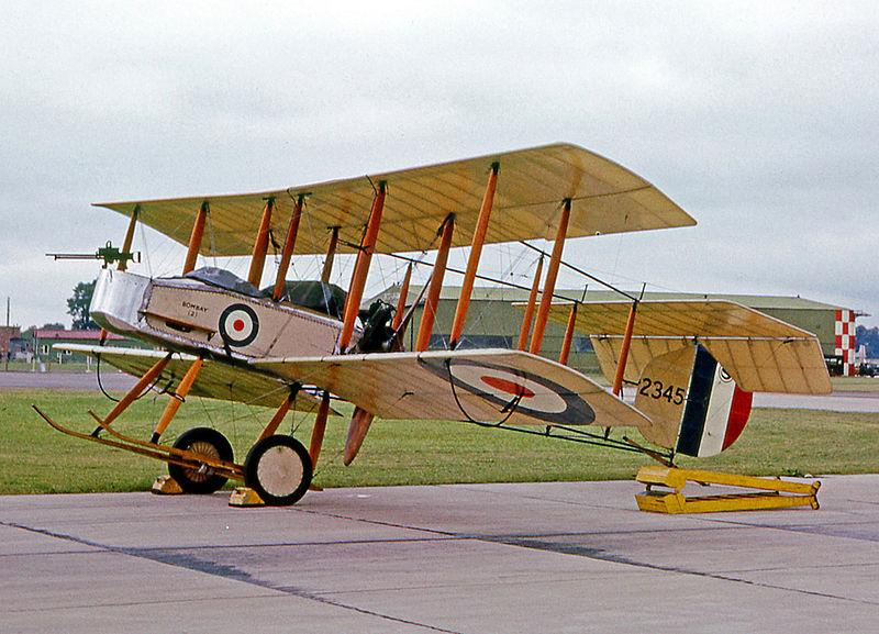A replica Vickers Gunbus. Photo source: Wikipedia.