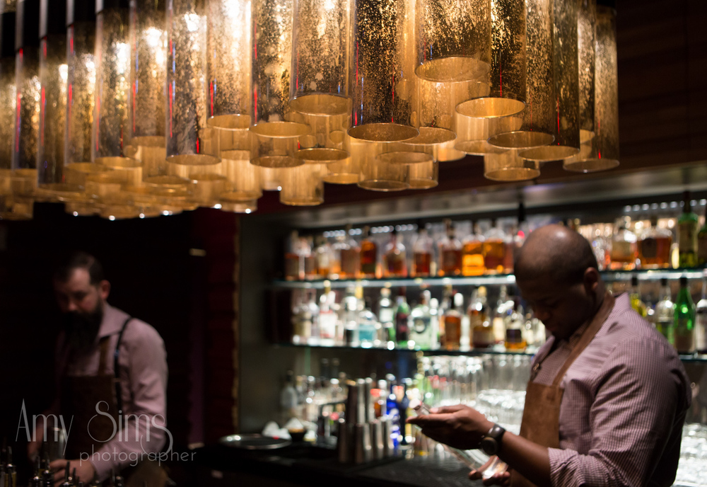 Bar 54 at the Hyatt in Times Square | @Amy Sims Photography | New York Wedding Photography | Proposal