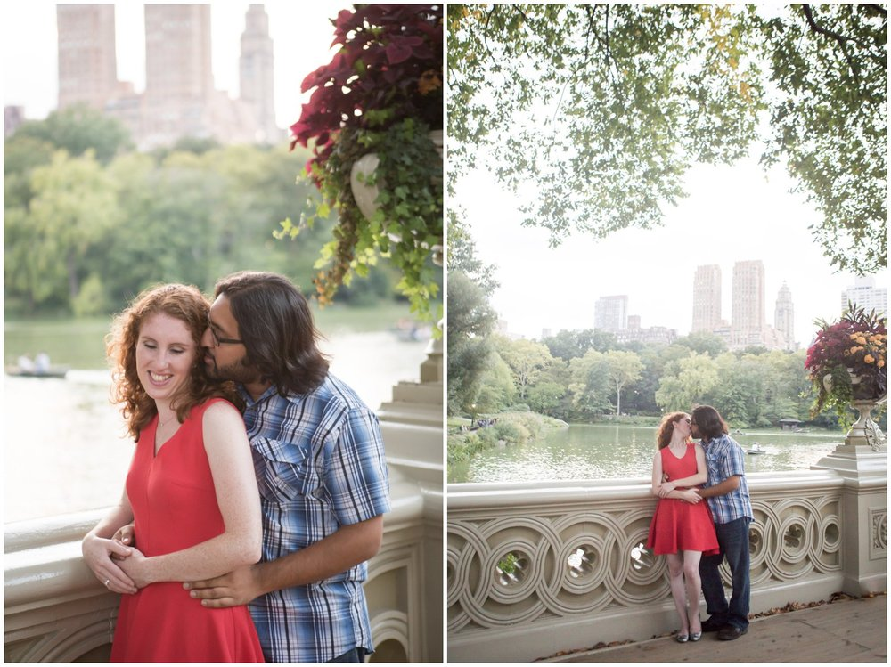 @Amy Sims Photography | New York Wedding Photography | Kelsey & Anish | Central Park l Engagement Shoot | Bow Bridge
