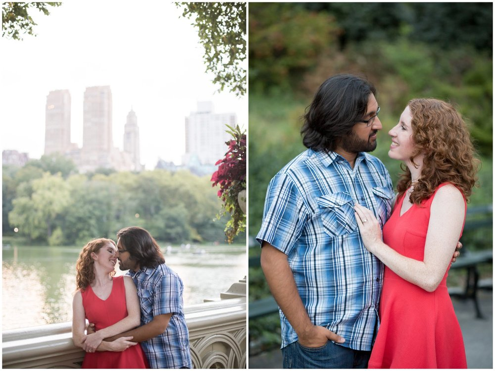 Kelsey & Anish || NYC Engagement || Midtown Manhattan || Amy Sims Photography || Central Park Engagement || Bow Bridge