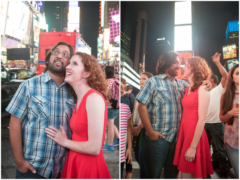 @Amy Sims Photography | New York Wedding Photography | Kelsey & Anish | Times Square l Engagement Shoot