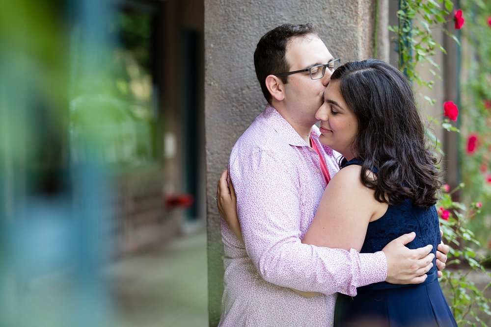 A Peaceful moment between two massive goofballs | @Amy Sims Photography | New York Wedding Photography | Heather & Ian | Forest Hills | Engagement Shoot