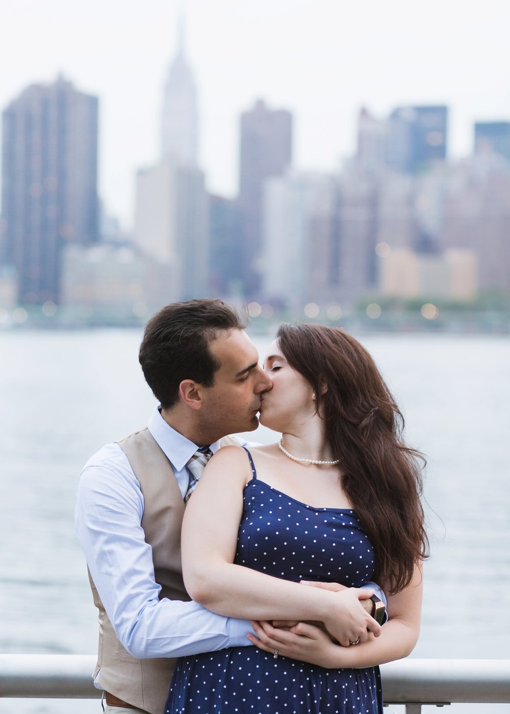 Amy Sims | New York Wedding Photography | Cathy and Antonello | Long Island City Pier | Engagement