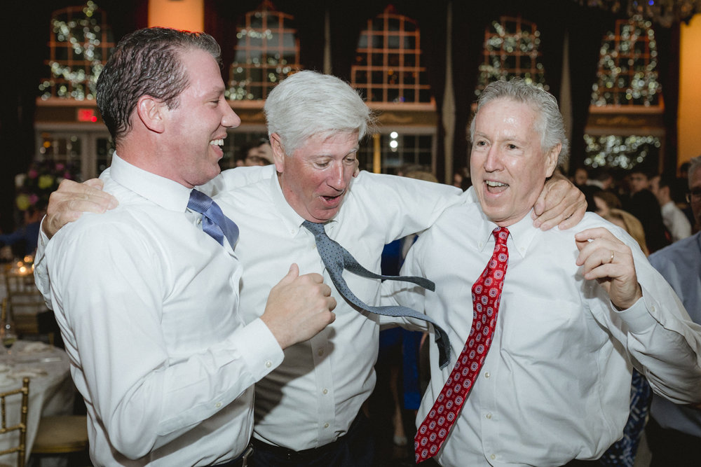 Older male guests dance joyously - Estate at Florentine Gardens wedding - Hudson Valley Wedding - Kelsey & Anish's wedding - Amy Sims Photography
