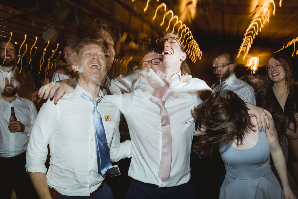 Amy Sims Photography | groom and friends dance hard to the music | Box House Hotel wedding | Brooklyn wedding photographer