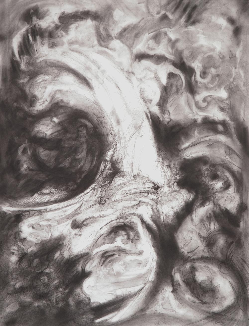 "Transformation, 18"" x 24"", graphite, 2012"
