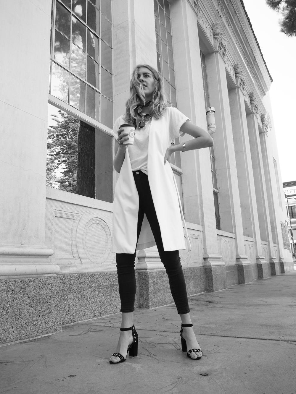 Vevre en Simplicité Zady Tee Vince Ponte Vest Madewell High Rise Denim Street Style Look x Taylr Anne www.taylranne.com