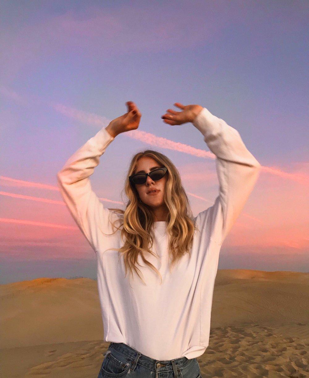 Sunset Sand Dunes White Sands Taylr Anne Seen Unseen
