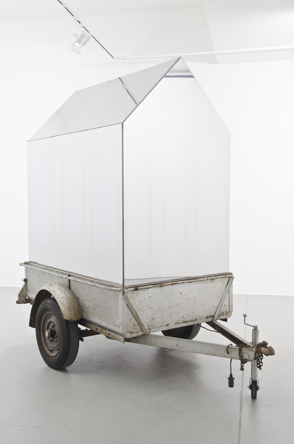 Matt Huppatz,  Go West!  2013-15. Found home-made trailer, acrylic, reflective film, aluminium. Photo by Alex Lofting. Courtesy of the artist.