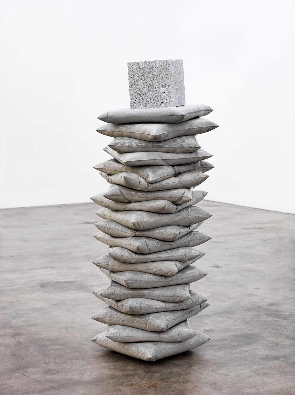 Anna Horne,    Mould , 2015, C oncrete, stone, 110cm x 30cm x 30cm . Photograph by Grant Hancock. Courtesy of the artist and GAG Projects.