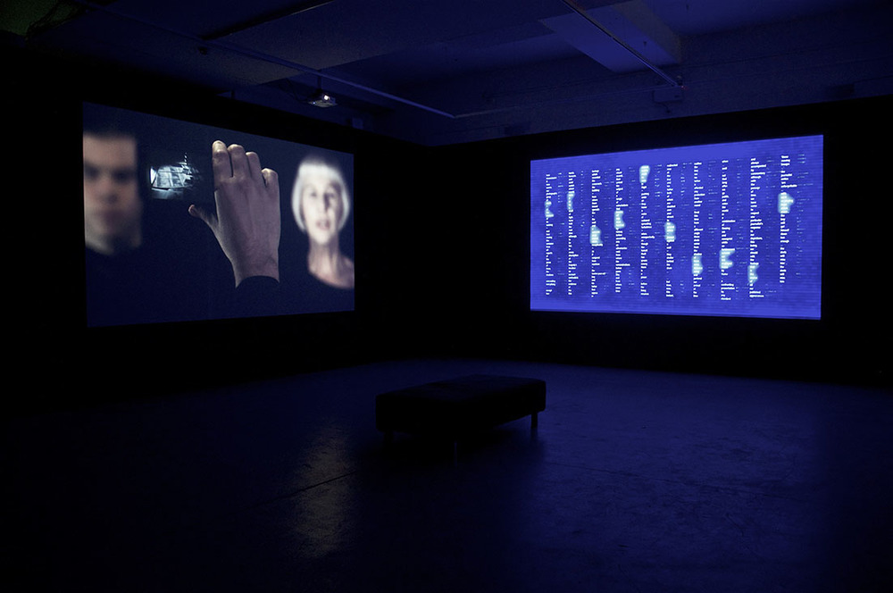Peter Kennedy,  The Photographs' Story  2004–2016. Three-channel digital video and sound installation each part 6:20min, total 38min. dimensions variable. Photo: Alex Lofting. Image courtesy the artist and Milani Gallery, Brisbane.