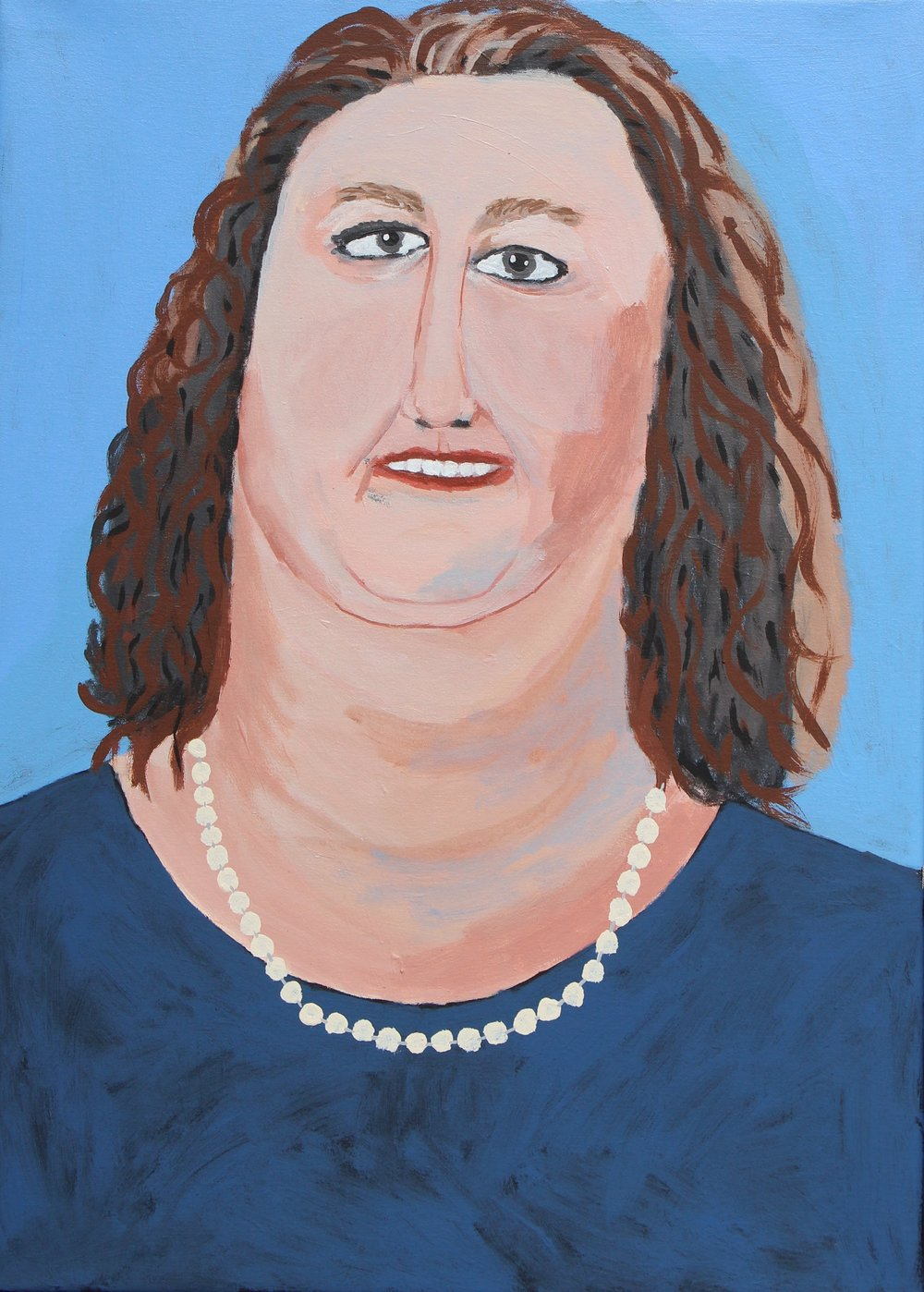 Vincent Namatijira,  The Richest (Gina Rinehart),  2017, acrylic on canvas, 91 x 67 cm. Courtesy of the artist, THIS IS NO FANTASY + dianne tanzer gallery and Iwantja Arts.