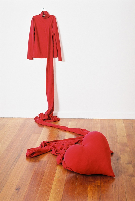 Roy Ananda,  Untitled,  2006, Fabric, coat-hanger, fibreglass. Dimensions variable. Photograph by Mick Bradley. Image courtesy the artist.
