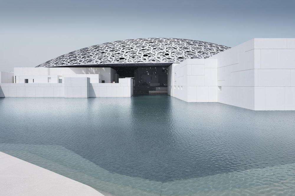 Louvre Abu Dhabi's exterior © Louvre Abu Dhabi, Photography: Mohamed Somji