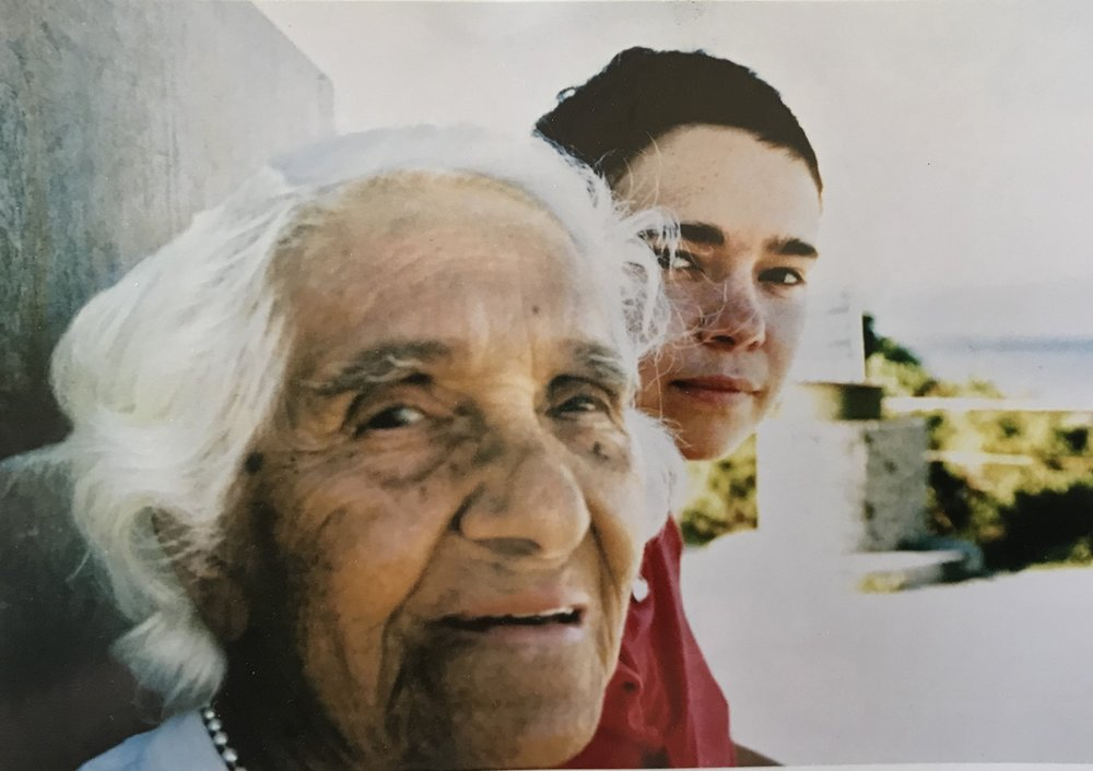 Nan and Ali, Fowlers Bay 1998, family photo. Courtesy Ali Gumillya Baker