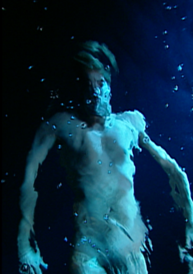 Bill Viola,  The Messenger  , 1996, video/sound installation, performance byChad Walker, photography byKira Perov, courtesy of the artist and the Adelaide Festival.