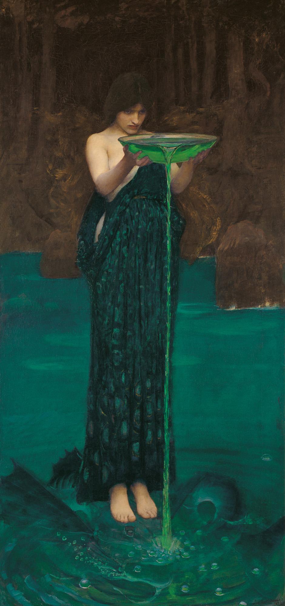 J. W. Waterhouse, Britain, 1849 - 1917,  Circe Invidiosa , 1892, London, oil on canvas; South Australian Government Grant 1892, Art Gallery of South Australia, Adelaide.