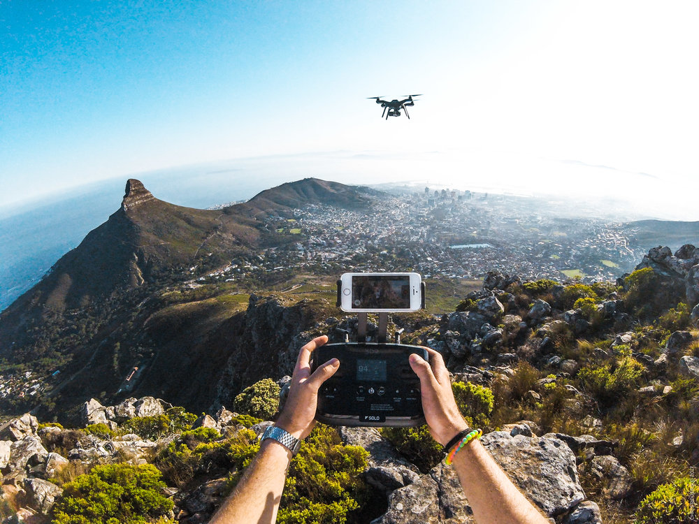 Flying SOLO in Cape Town South Africa. This area no longer allows drones to be flown here.
