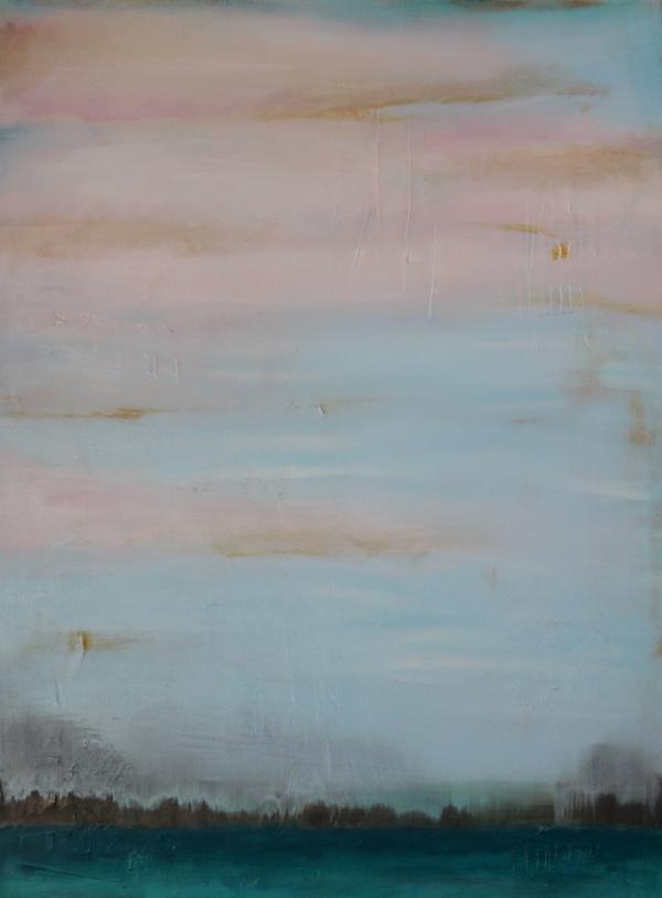 """Lake Sky II  36"""" X 48"""" Acrylic on Canvas"""