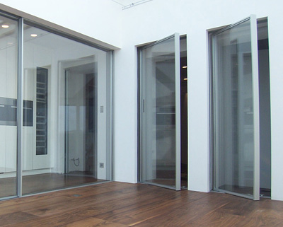 vitrocsa large panel glazed pivot door 3001 minimal frame not Fineline