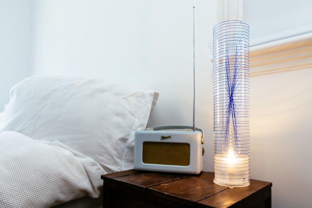 Luna Table Lamp - blue weave www.l-ight.co.uk