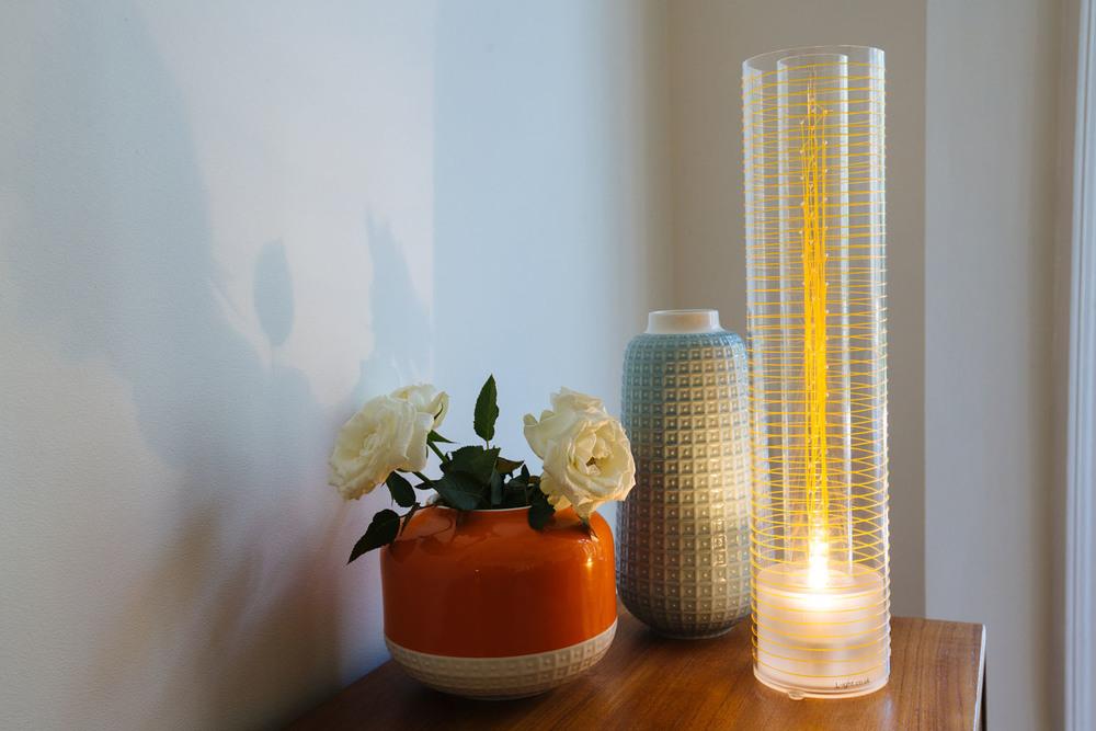 Luna Table Lamp - orange weave www.l-ight.co.uk