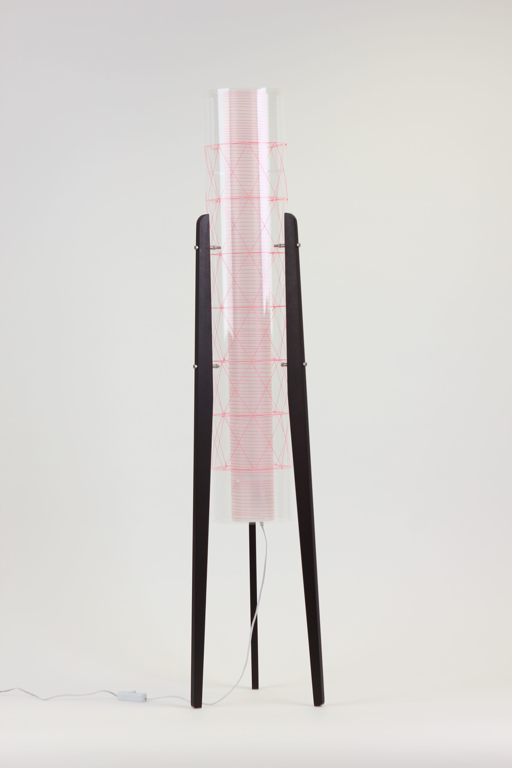 Sputnik Floor Lamp - pink weave www.light.co.uk