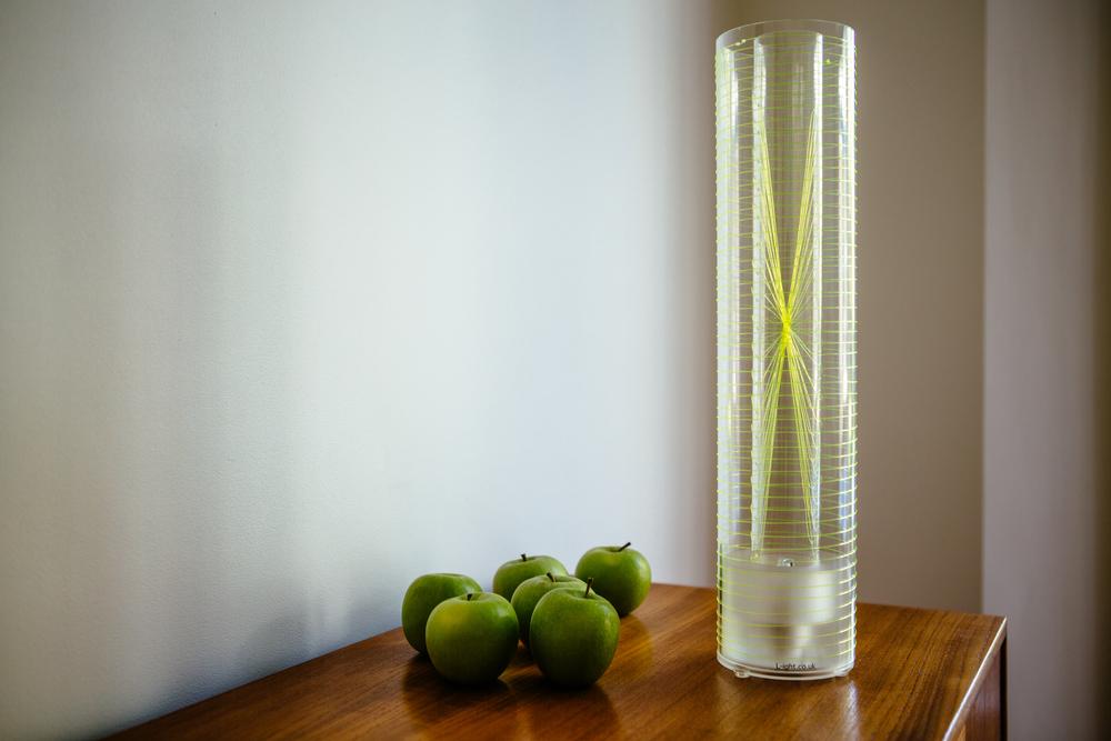 Luna Table Lamp - yellow weave www.l-ight.co.uk