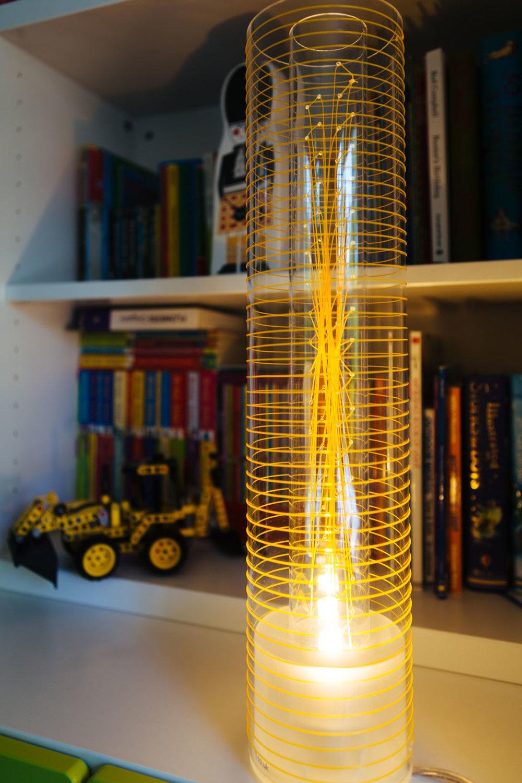 Luna Lamp - orange weave - l-ight.co.uk