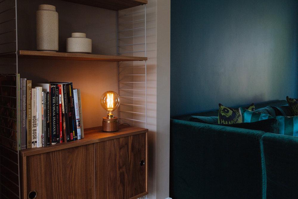 Luna Lamp Bulb, walnut l-ight.co.uk
