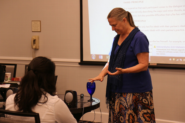 Director of Education Rebecca Mays                                      during the Alumni TIES workshop in July.