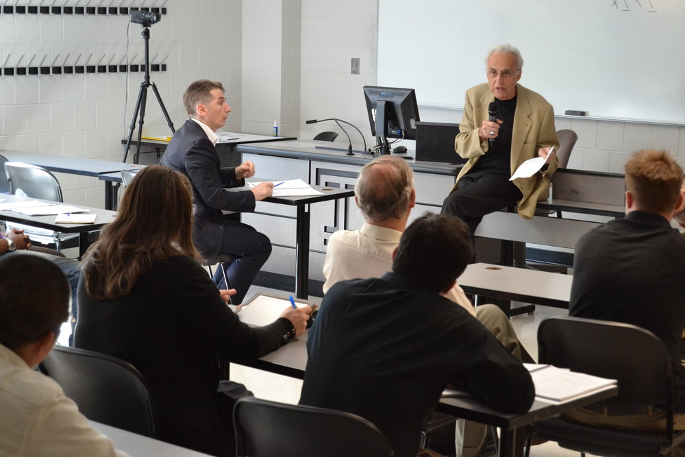 Scholars in a session with DI Board member John Esposito, Professor of Religion and International Affairs and of Islamic Studies at Georgetown University, and Founding Director of the Alwaleed Center for Muslim-Christian Understanding.
