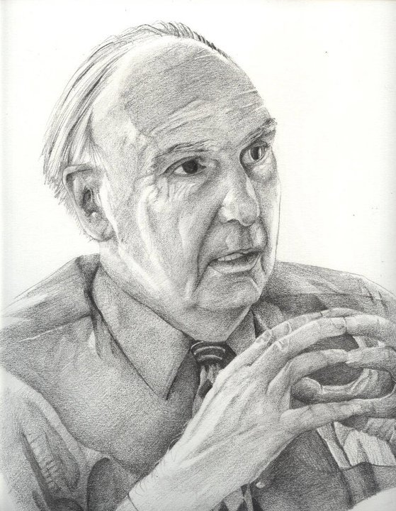 Portrait of DI Founder and President, Leonard Swidler, by Moussa Mazraani