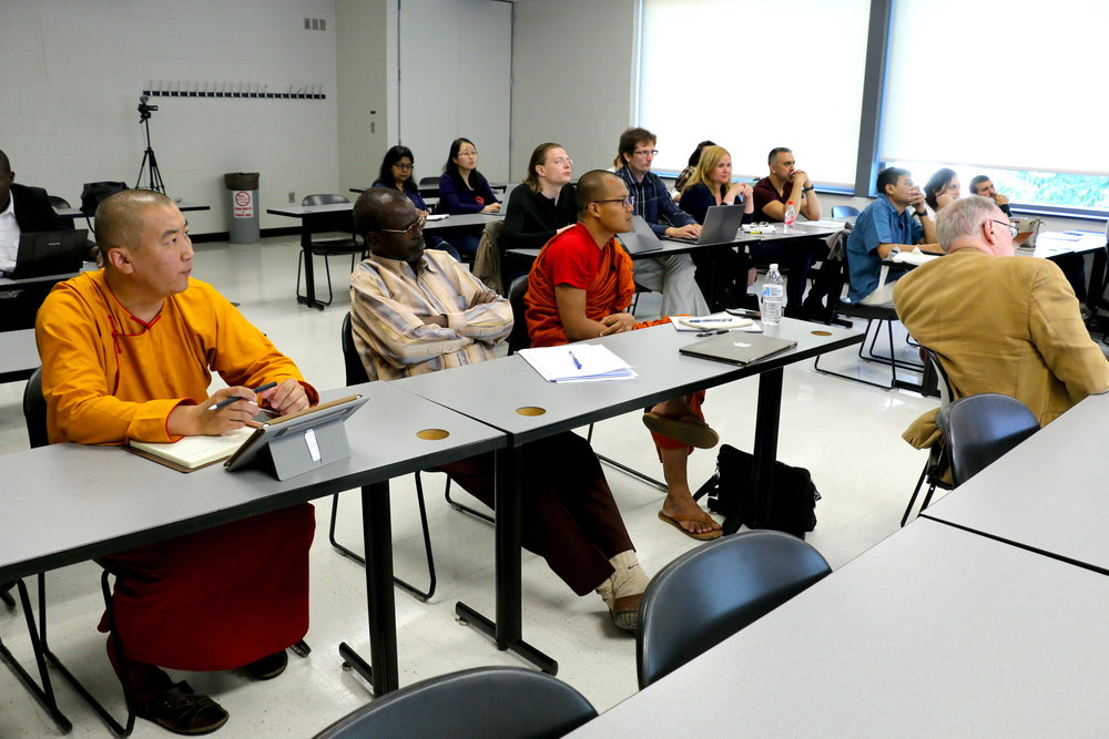 Scholars engage with Temple professors of varying fields.  Photo by Rachel Meirson