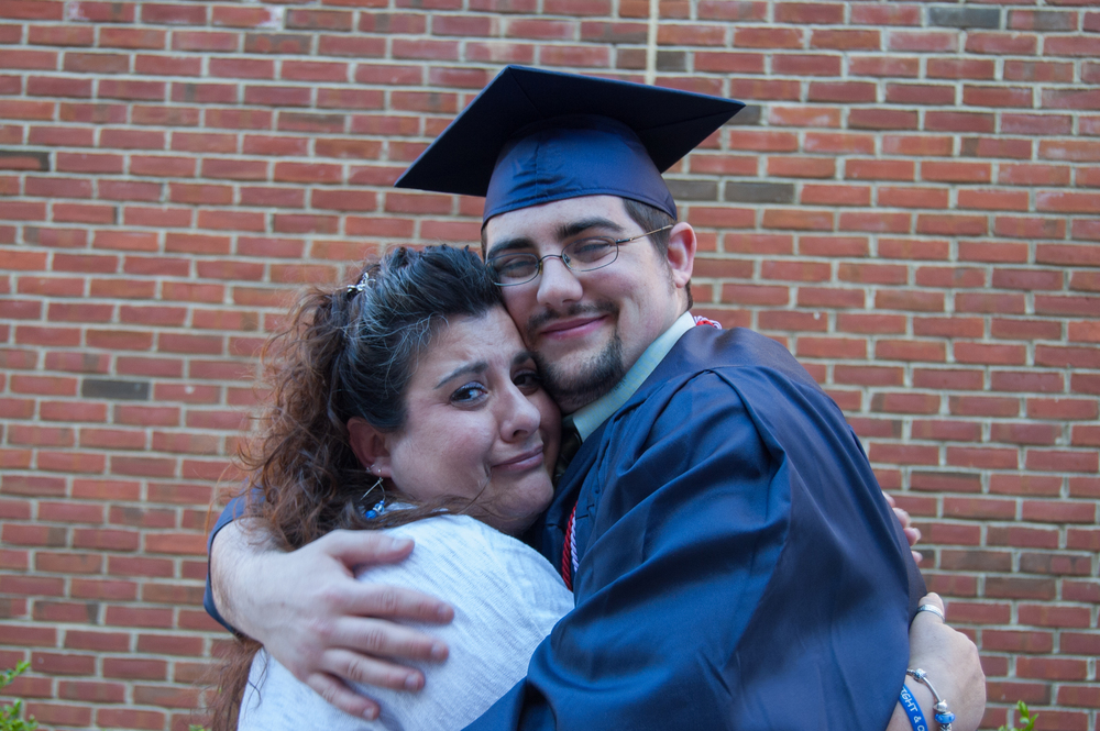 Mom and Randy at his college graduation
