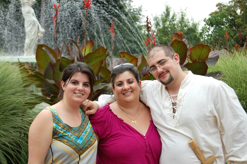 Me, Mom, and Randy at the Ren. Faire
