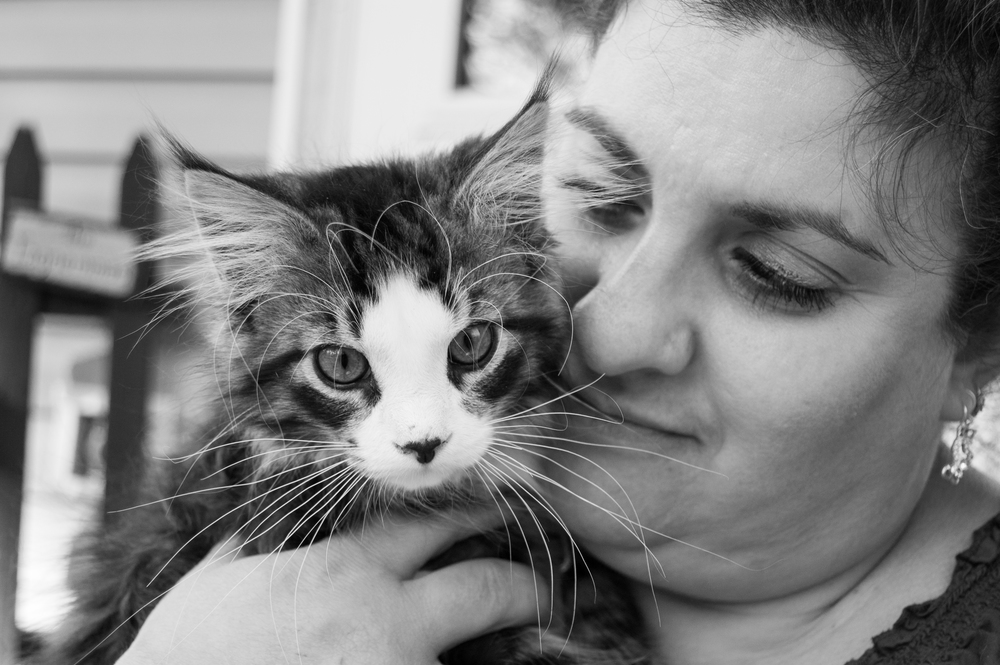 Mom and her cat Raiden