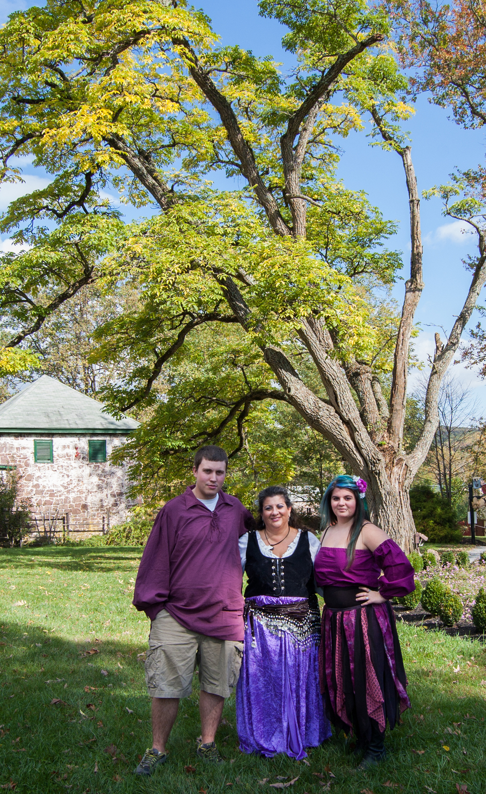 Brian, Mom, and Me at the Ren. Faire