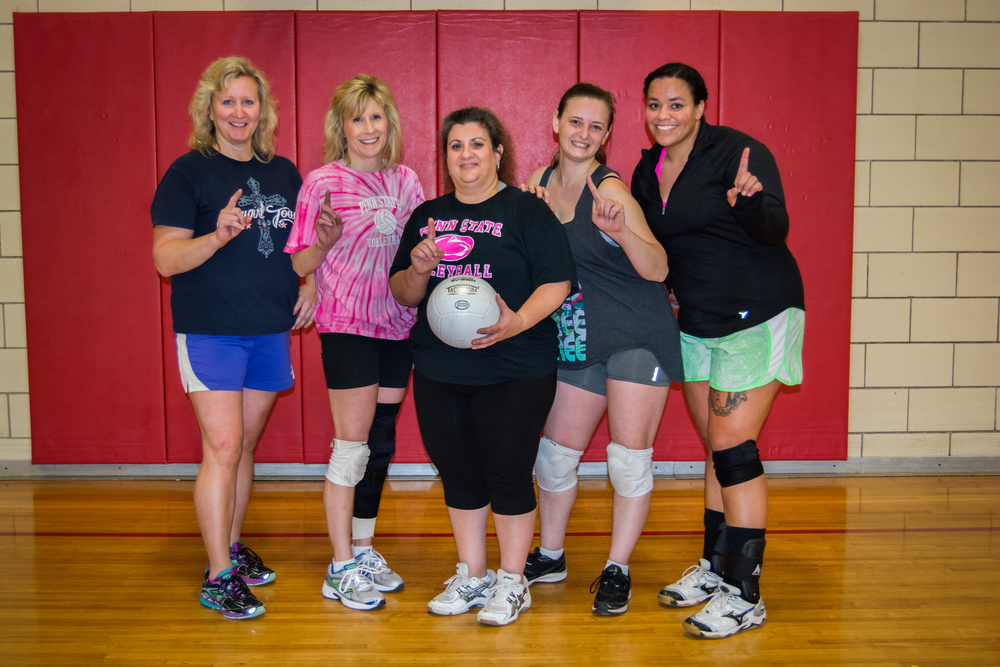 Mom and her volleyball team who won the championships