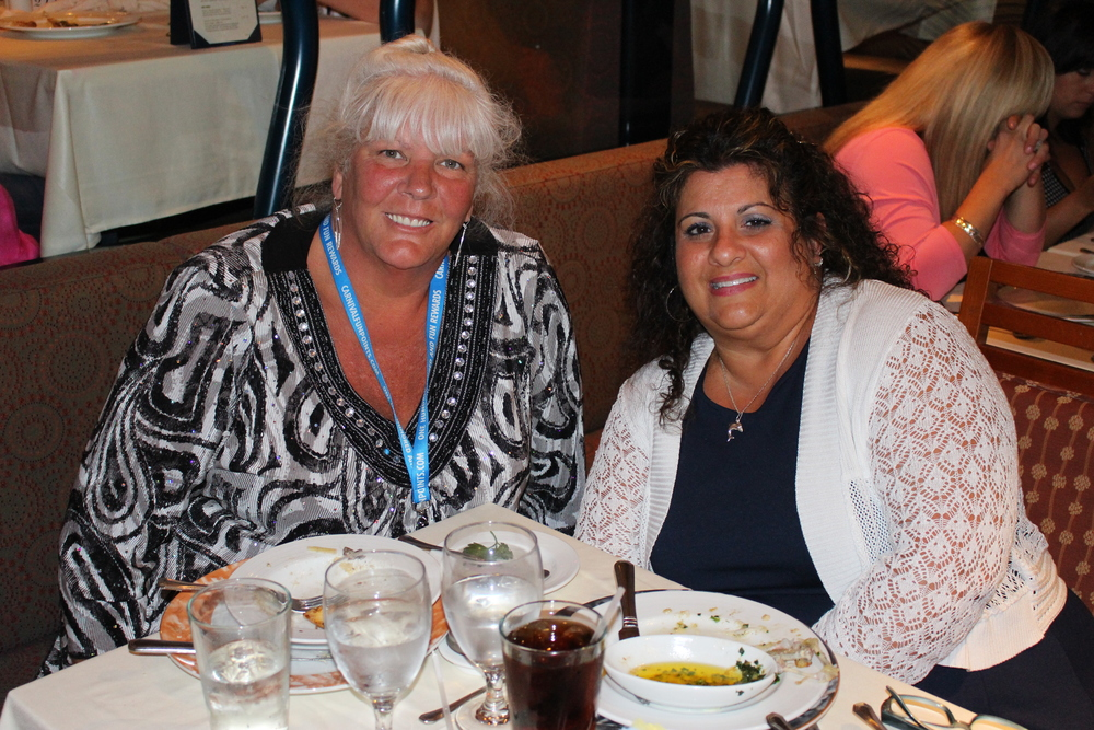 Sharon and Mom on their carnival cruise