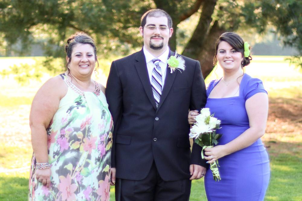 Mom, Randy, and Me at Randy's wedding - Jessica Krzywicki Photography