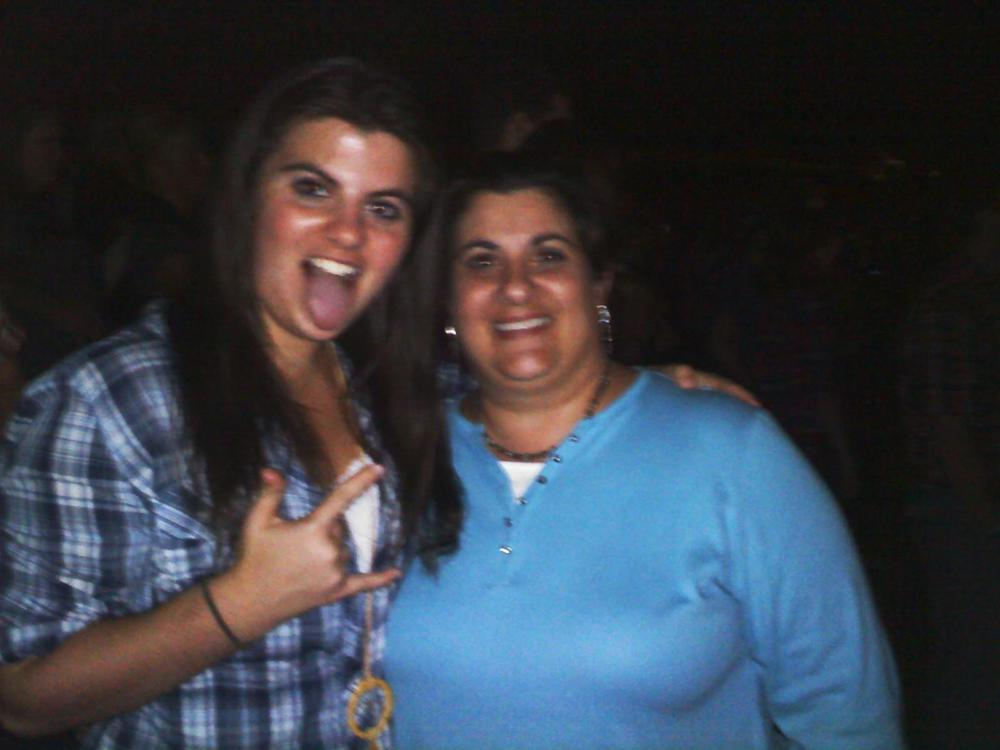 Me and Mom at a country concert