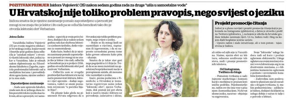 isidora vujošević varaždinske vijesti