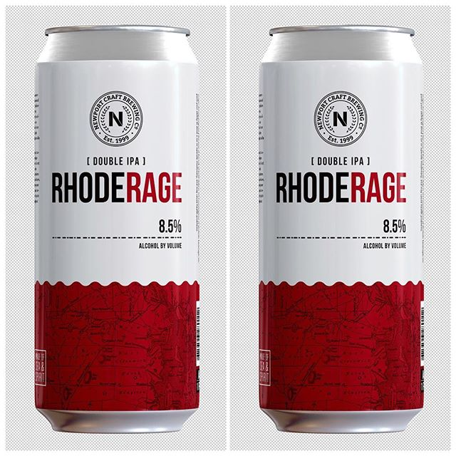 Congrats @newportcraft on the new RhodeRage release. Always a pleasure collaborating with you! . . . . . . . . . . . #craftbeer #newportri #graphicdesign #beer #lakunadesign #nptrightnow #packaging #rhodeisland