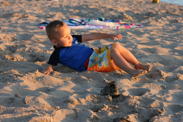 Isaac Loving the Sand!