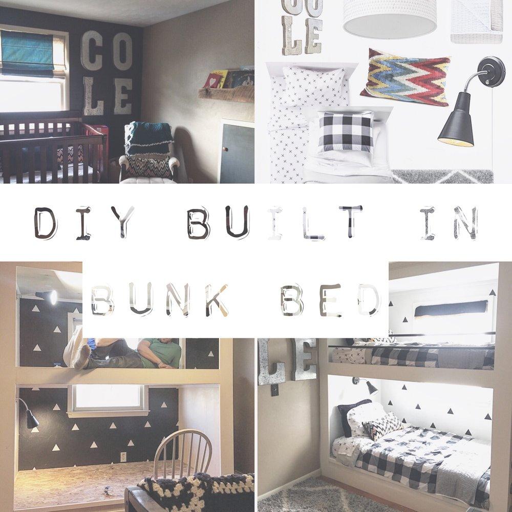 DIY Build In Bunk Beds For The Boys Room / Home Decor / Boys Room / Room  Decor Ideas U2014 Salted Words