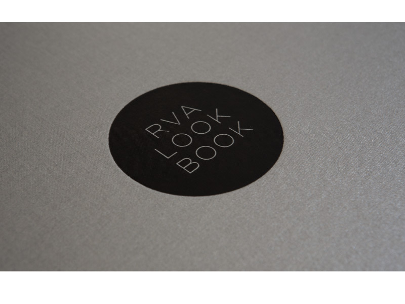 RVA Look Book cover foil stamp