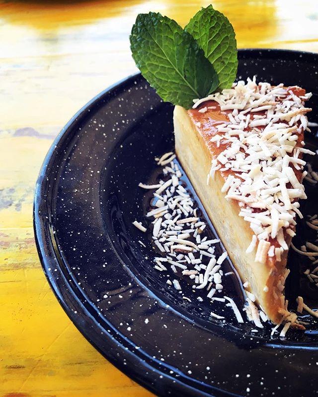 Coconut flan!! #literallythebestthingyouveeverputinyourmouth #coconut #flan #delicious #dessert #dessertporn #hierbabuena #ranchohierbabuena #hortilizahierbabuena #todossantos #pescadero #wewillshowyoutheway #foodie #foodiegram #dessertlover #dessertstagram